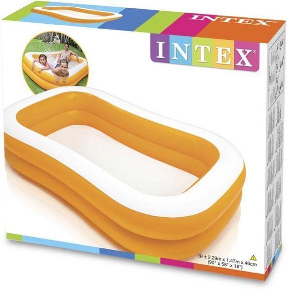 Бассейн детский надувной Intex 57181 (229-147-46 см)