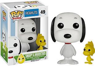 Фигурка Funko Pop Фанко Поп Арахис Шаппи и Вудсток Peanuts Snoopy Woodstock 10 см Cartoon P SW 49