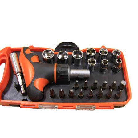 Высококачественный набор инструментов отвертка с трещеткой с головками и битами Gear Power HZF -8187A  25шт., фото 2