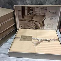 Комплект постільної білизни Nazenin Bamboo Saten Бежевий