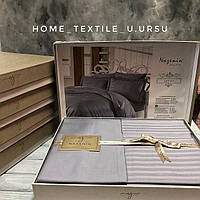 Комплект постельного белья Nazenin Bamboo Saten Серый