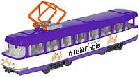 Модель городской трамвай Львов Технопарк SB-16-66WB-UL, фото 1