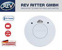 Датчик дыма REV VDS 10 лет работы, фотоэлементы в соответствии с EN 14604, 85 Дб,  белый