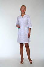 Женский белый медицинский халат батал размеры 44-74