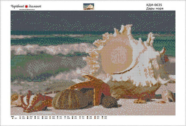 КДИ-0635 Набор алмазной вышивки Дары моря, фото 2