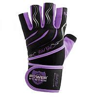 Перчатки для фитнеса и тяжелой атлетики Power System Rebel Girl PS-2720 Purple M SKL24-145693, фото 1