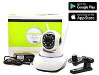 Поворотная Wi Fi IP-камера видеонаблюдения,ночная съемка,видеоняня