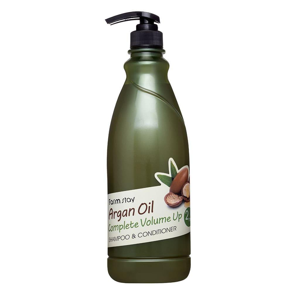 Шампунь-кондиционер с аргановым маслом FarmStay Argan Oil Complete Volume Up shampoo & conditioner