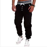 Спортивные мужские штаны черные