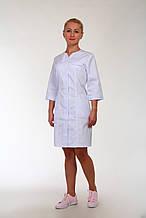 Коттоновый медицинский халат рукав три четверти