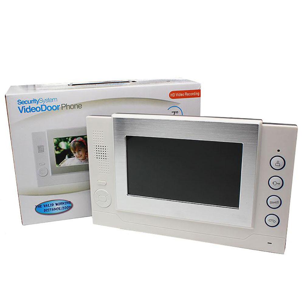 Домофон WJ708TC8 Сенсорый Экран (Memory Card) + ПОДАРОК: Настенный Фонарик с регулятором BL-8772A