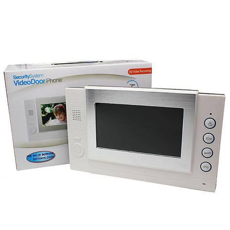 Домофон WJ708TC8 Сенсорый Экран (Memory Card) + ПОДАРОК: Настенный Фонарик с регулятором BL-8772A, фото 2