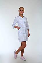 Классический медицинский халат врача белый