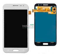 Модуль Samsung SM-J200H Galaxy J2 white с регулируемой подсветкой дисплей экран, сенсор тач скрин самсунг гэлэкси ж2