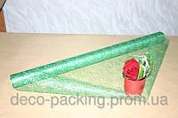Зеленая с серебряной нитью металлизированная сизаль (Metal Lace)