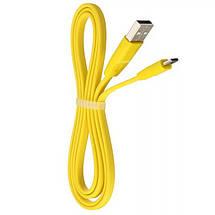 Кабель USB - micro USB Remax Full Speed, жовтий, плоский, 2 метра, мікро юсб шнур для зарядки 2м, фото 3