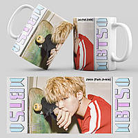 Чашка 330 мл. белая K-Pop BTS 103 Jimin (Park Ji-min)