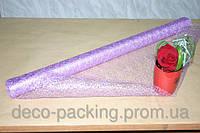 Фиолетовая с серебряной нитью металлизированная сизаль (Metal Lace)
