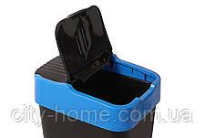 Ведро для мусора с крышкой черное 18 л, Heidrun REFUSE Push&Up, 29х23х43 см, фото 3