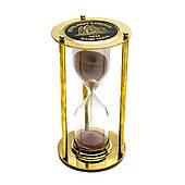 Песочные часы на 5 минут, из бронзы, размеры 16,5 х 9 х 9 см