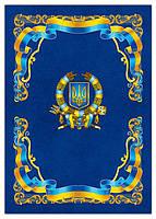 """Папка для бумаг № 04 """"Символика"""" (синяя)"""