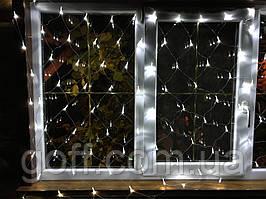 Гирлянда сетка светодиодная, 120 Led, 1,5x1,5 м,  Белый