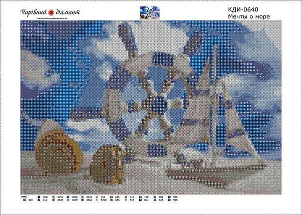 КДИ-0640 Набор алмазной вышивки Мечты о море, фото 2