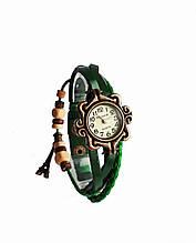 """Часы женские кварцевые """"Париж""""  Зеленый"""