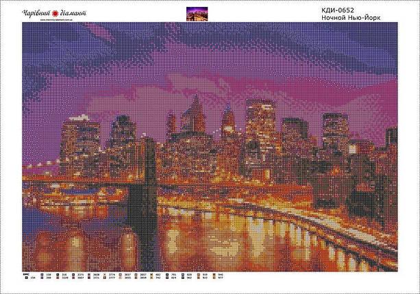 КДИ-0652 Набор алмазной вышивки Ночной Нью-Йорк, фото 2