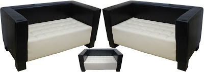 Диван двухместный Спейс черно-белый - картинка