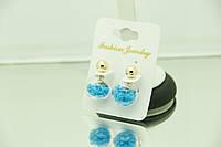 Прозрачные серьги, сережки- матрешки- пусеты оптом и в розницу. Модная бижутерия RRR. 176