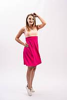Женское летнее трикотажное платье розового цвета
