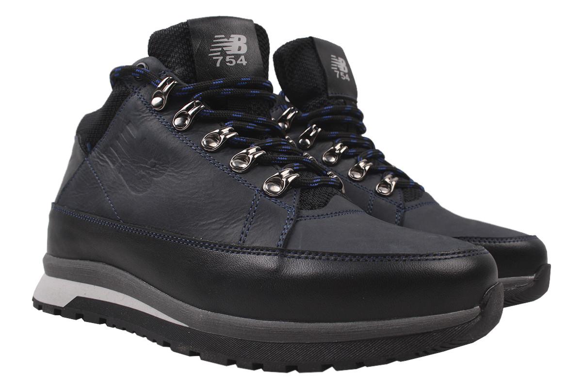 Ботинки мужские зимние Road Style натуральная кожа, цвет синий, размер 40-45