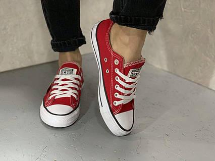 Кеды Converse All Stars Red Low (красные) 38