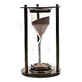 Песочные часы из бронзы - 5 минут, размеры 14,5 х 7 х 7 см