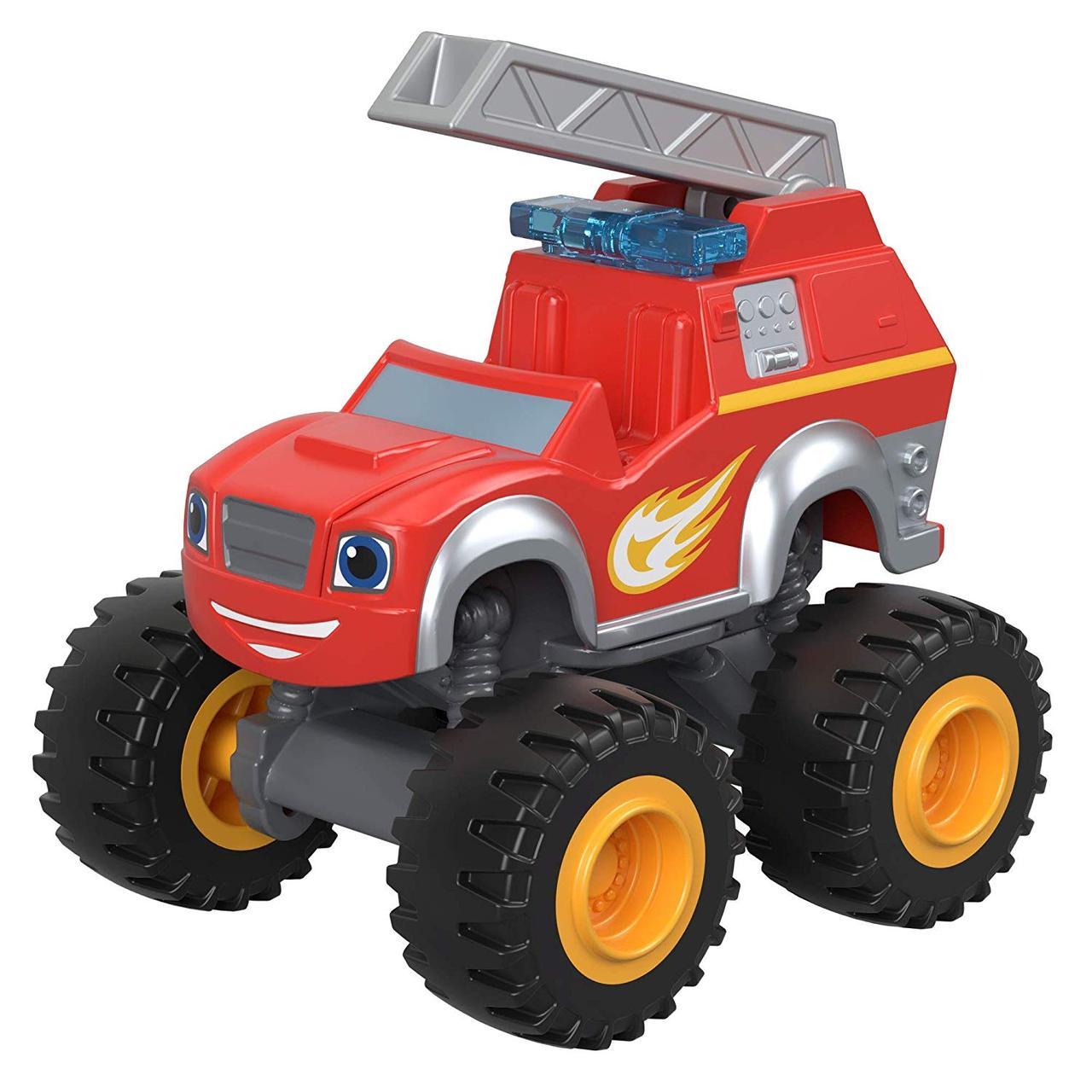 Fisher-Price Вспыш і диво-машинки Вспыш Пожежник Fire Rescue Blaze Monster Truck Diecast Vehilce