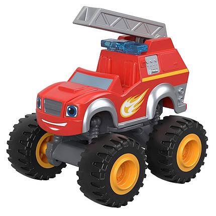 Fisher-Price Вспыш і диво-машинки Вспыш Пожежник Fire Rescue Blaze Monster Truck Diecast Vehilce, фото 2