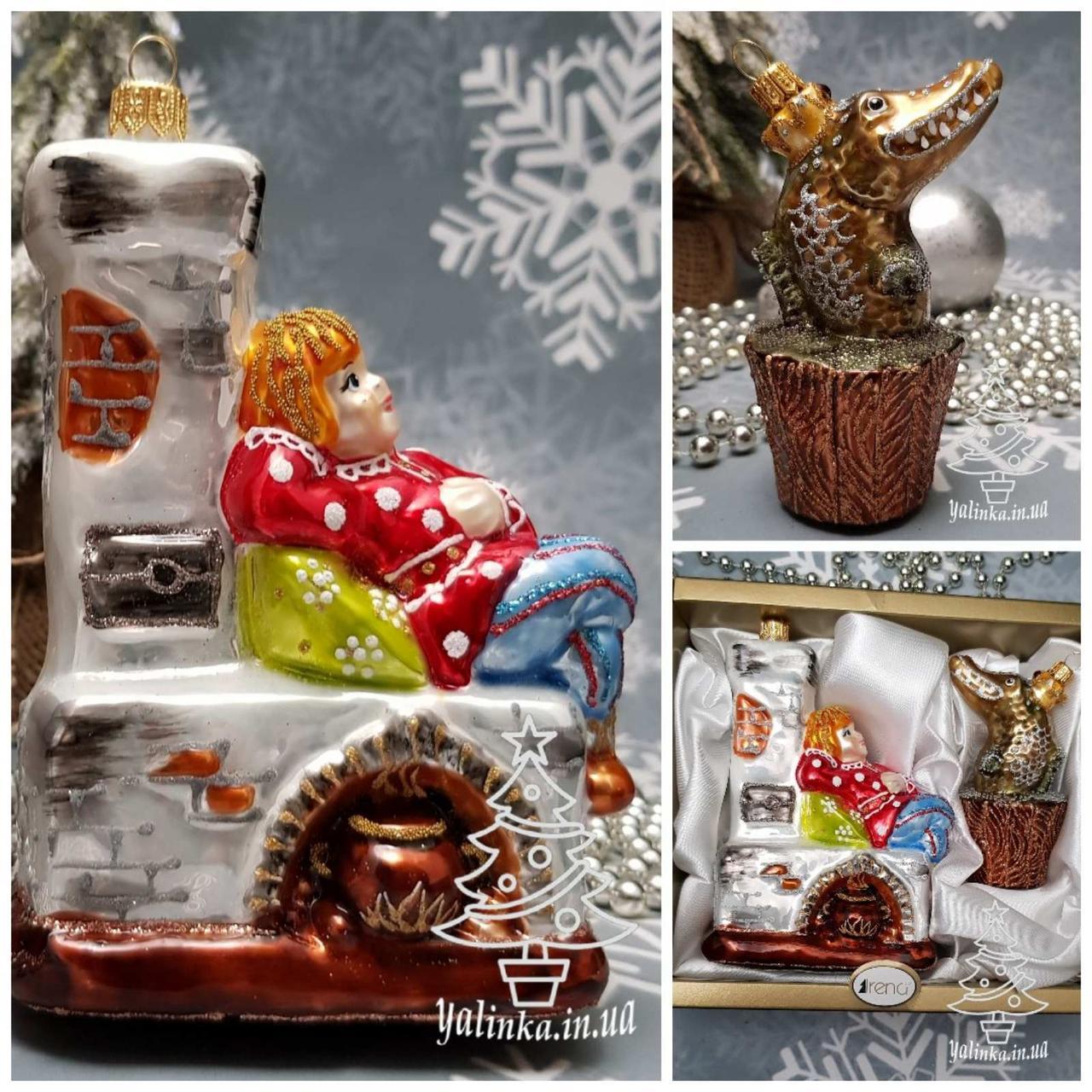 Набор стеклянных елочных игрушек Емеля и Щука Irena