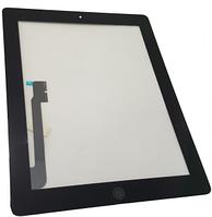 Сенсорный экран со стеклом для Apple iPad3, iPad4, с кнопкой Home, стикерами, черный