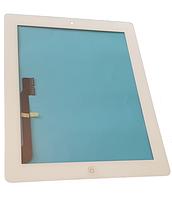 Сенсорный экран со стеклом для Apple iPad3, iPad4, с кнопкой Home, стикерами, белый