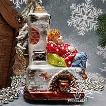 Набор стеклянных елочных игрушек Емеля и Щука Irena, фото 3