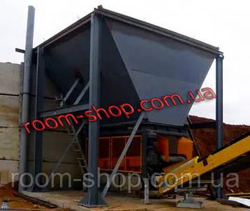 Дозирующие комплексы (БСУ), бункер накопитель, бункер приёмник с ленточным конвейером, фото 2