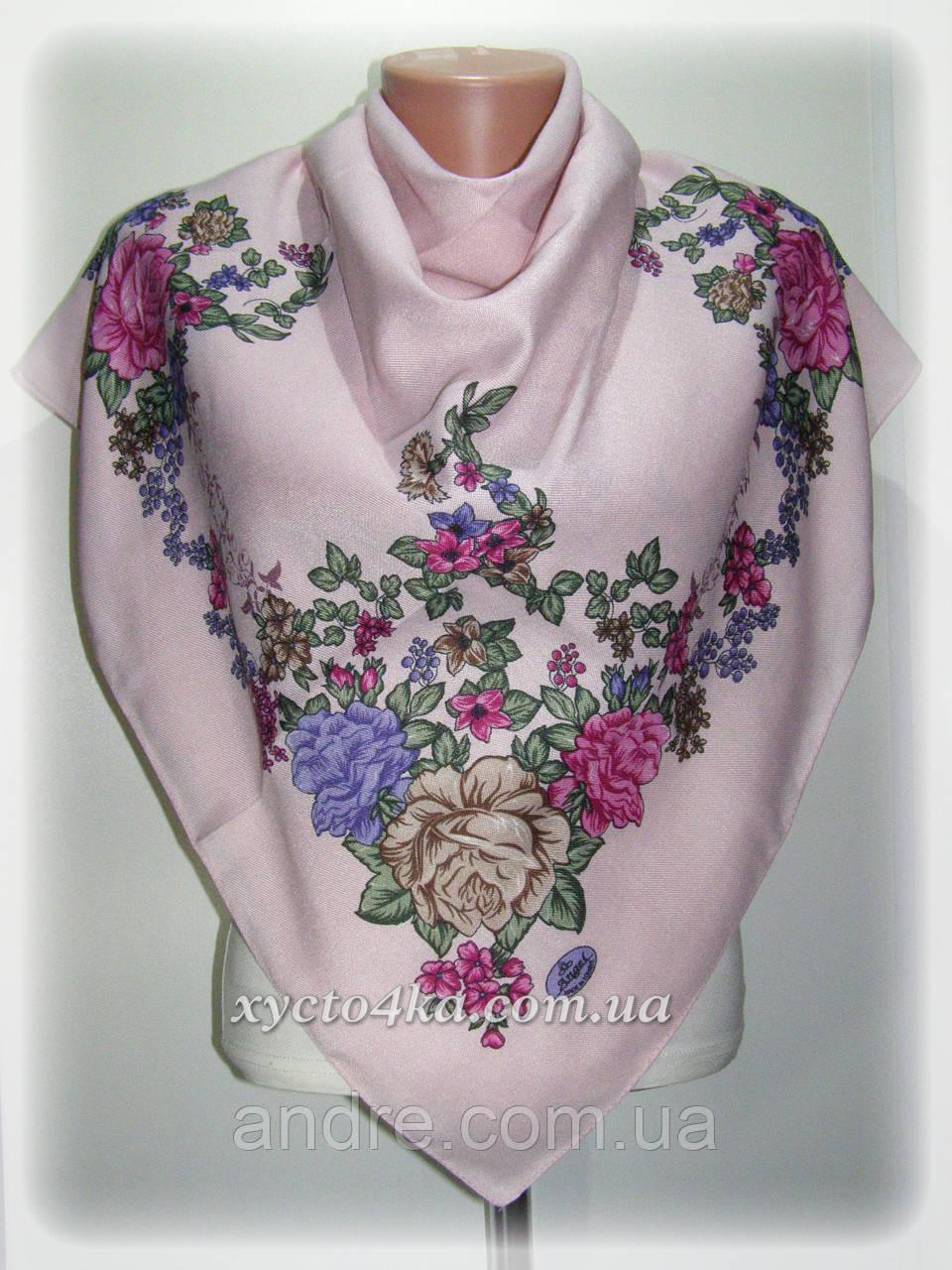 Кашемировые платки Флора, пудровый