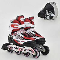 Ролики Best Roller красные, размер 39-42, колеса PU, в сумке - 185905