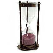 Часы песочные из бронзы на 5 минут, размеры 14,5 х 7 х 7 см