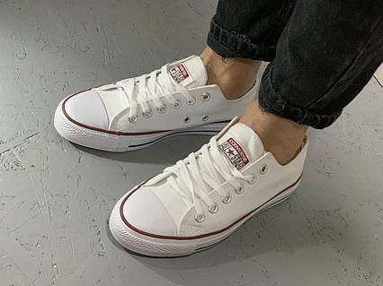 Кеды Converse All Stars Optical White Low M7652 (белые) 37