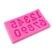 Молд для мастики Цифри з смужками 1,8 см