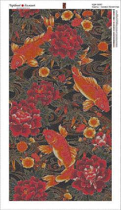 КДИ-0697 Набор алмазной вышивки Карпы. Символ богатства, фото 2