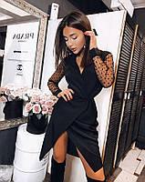 Нарядное платье с имитацией на запах