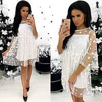 Модное праздничное новогоднее платье